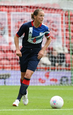 Casey Stoney (image courtesy of The FA via Getty Images)