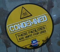 Club Website condemned sign