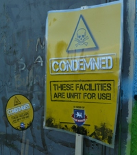 Club Website 'condemned' signs