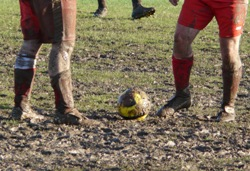 A muddy Sunday League pitch