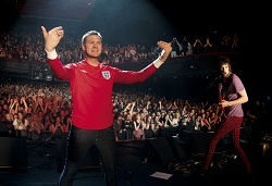 Kasabian unveil the England away shirt in Paris