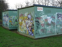 The two shacks at Kings Norton Park in Birmingham