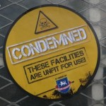 A Club Website 'condemned' sticker
