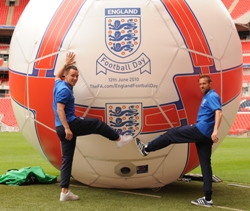 John Terry and Matthew Upson launch England Football Day