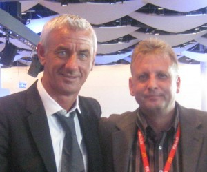 Mike Robinson with Liverpool legend Ian Rush